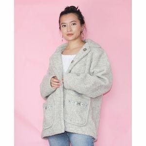 vg 90s classic teddy coat